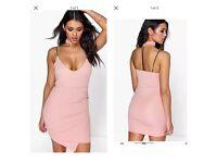 Pink choker dress size 8