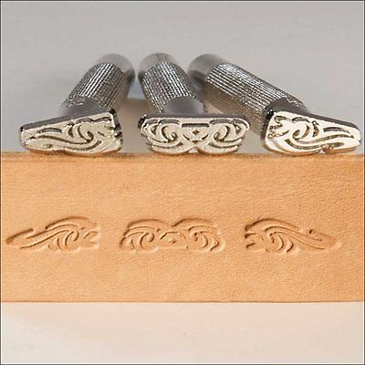 Discontinued Craftool Tribal 3-Piece Stamp Set Tandy Leather 69036-00 Free Ship