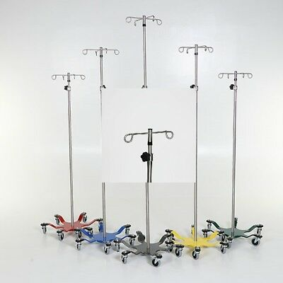 New Mcm-275 Heavy-duty 6-leg Spider Iv Pole Stainless Steel 2-hook Top