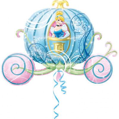 Cinderella Hochzeitskutsche ca. 80cm Luftballons Folienballon Geburtstag Figur ()