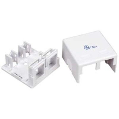 2 Port Blank Wall Surface Mount Box Snap-in Keystone Jack Modular RJ45 RJ11/12 Surface Mount Box 12 Port