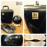 Brunswick bowling ball shoe and case collection