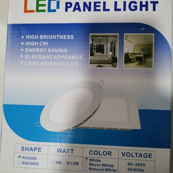 12W Round Led Panel Light Size 15.5 to 18cm