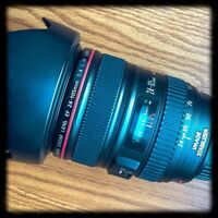 Canon 24-105 f4 IS L Mint with Hoya Filter and Lowepro Case