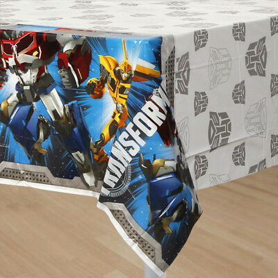 Transformers 1x Plastic Table Cover Birthday Party Supplies (Transformers Party Supplies)