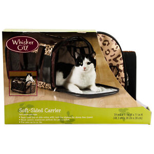 WHISKERCITY MINT CONDITION SOFT-SIDED CAT CARRIER $40
