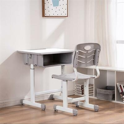 Adjustable Students Children Desk&Chairs Set Suitable for Different Grades White Desk Chairs For Kids