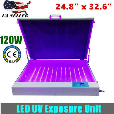 Usa Tabletop Precise 24.8 X 32.6 120w Vacuum Led Uv Exposure Unit