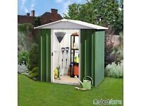SORRY SOLD ALREADY ,,,, CApex 6x7 metal Shed still in box £150 was £275
