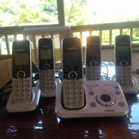 5 cordless phones with answering machine