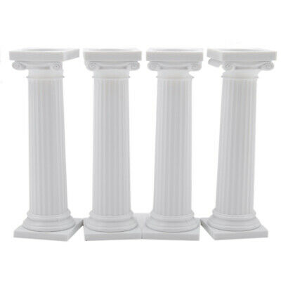 Plastic Greek Columns (Wilton Grecian Column Pillars 3 Inches Set of 4 | Cake)