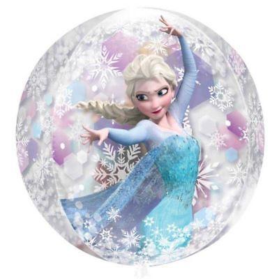 ay Party Anna Elsa 15 X 16 Orbz Rund Klar Folienballon (Disney Frozen Birthday Ballons)