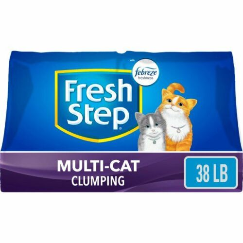 Fresh Step Multi-Cat Scented Litter with the Power of Febreze,38 lbs