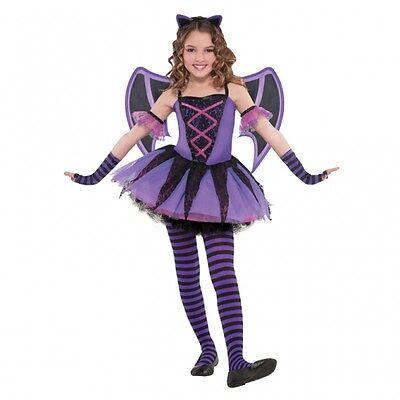 Karneval  Kostüm Gr. 110 Fledermaus lila Kinder Fasching Mädchen Flügel Kostüm