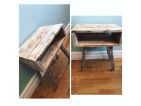 Pallet side table bedside table reclaimed upcycled shabby chic rustic