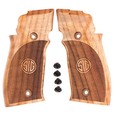 Sig Sauer P226 Single Action Deluxe Walnut Checkered New Factory Grips   Screws