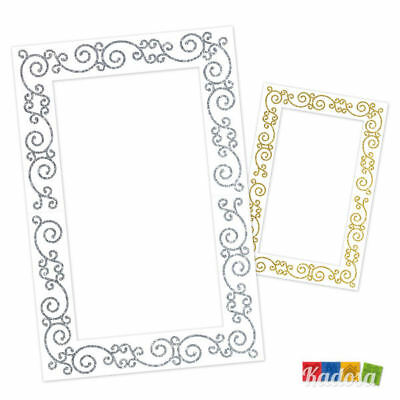 Cornice Photobooth Doubleface Oro Argento - Quadro Fotografie Selfie Matrimonio