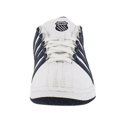 K-Swiss Classic Luxury Edition Sneakers White Blue Men 0001911 7M Classic Luxury Mens White Shoes