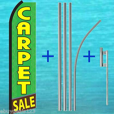 Carpet Sale Swooper Flag 15 Tall Pole Mount Kit Flutter Feather Banner Sign