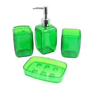 green bathroom accessories ebay