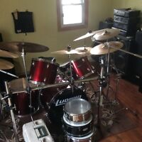 Ludwig set with rack and cymbals