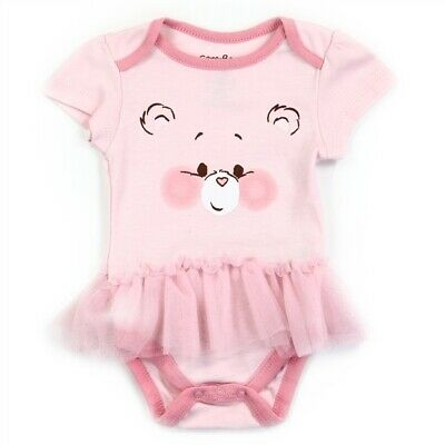 Care Bears Girls Infant NewBorn Baby Shower Bodysuit One Piece Pink Cat Tutu - Care Bear Baby Shower