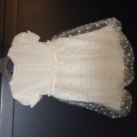 Fancy GYMBOREE white lace and knit size 4 dress