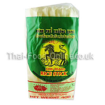 Thai Rice Stick Noodles (10mm) 400g by Kirin *** UK Seller - Quick Delivery ***