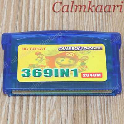 New Nintendio  Multicart Cartridge PoKeMon 369 in1 GBA GameBoy Advance Game Card