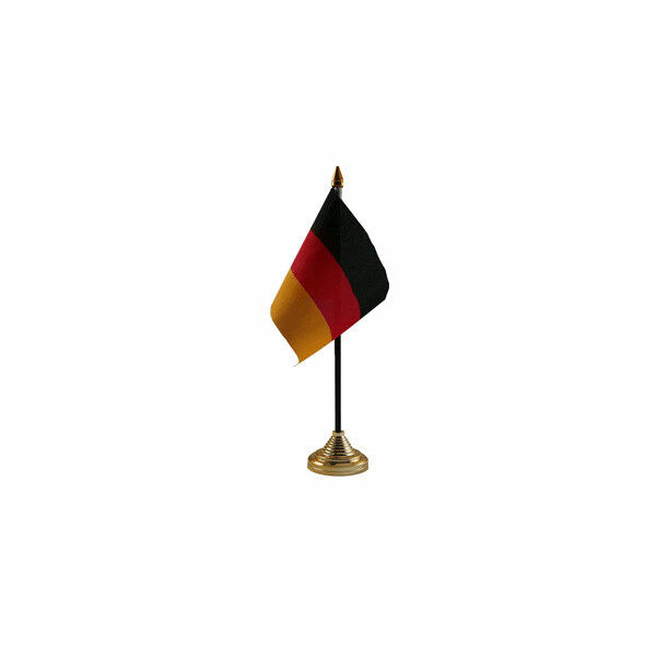 Germany Table Desk Flag - 10 x 15 cm National Country Hand Europe