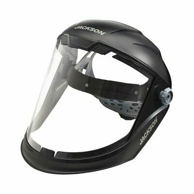 Jackson Safety 14200 Face Shield With Ratcheting Headgear - Black