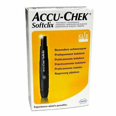 Accu chek Softclix Lancing Device, Sugar Diabetic Kit Aid, 25 Lancets, German