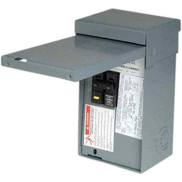 Homeline 50 Amp 2-Space 4-Circuit Spa Panel Main Lug Load Center