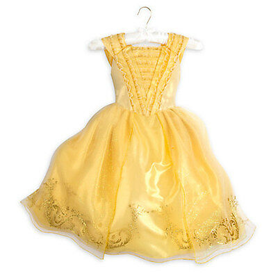 NWT Disney Store Belle Costume Gown Dress Princess Girl Beauty and The Beast