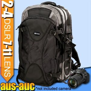 Pro Camera BACKPACK travel BAG for 4x DSLR 11x lens 17