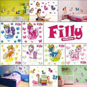 filly pferdchen einh rner wandtattoo kinderzimmer m dchen. Black Bedroom Furniture Sets. Home Design Ideas