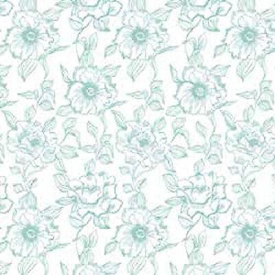 Magic Cover 03-852-12 Self-Adhesive Shelf Liner, English Rose Blue, 18