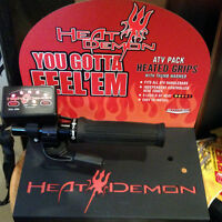Heat Demon Heated ATV Grips Canada Ontario ATV TIRE RACK