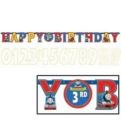 Disney Thomas The Train Add an Age Happy Birthday Jumbo Letter Banner Kit  - Thomas Birthday Banner