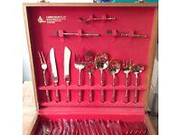 100 Piece Retro Bronze Bamboo Design Canteen Of Cutlery Set