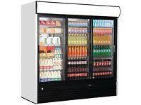 Iarp 3 triple glass door display drinks