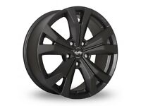 "Vw T5 Matt Black 18"" Super metal Alloy wheels and tyres"
