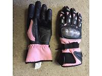 Ladies motorcycle gloves as new