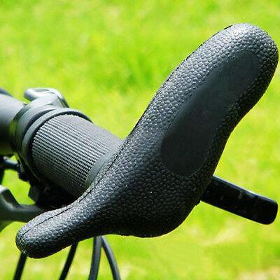 "Gray MTB BMX Hybrid Flat Bar Bike Grips 130mm 7//8/"" 22.2mm NEW Black"
