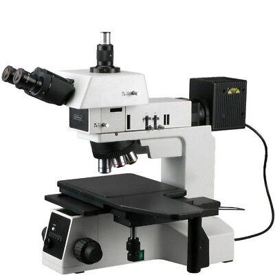 Amscope 50x-500x Polarizing Darkfield Metallographic Metallurgical Microscope