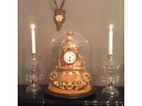 Large stunning gilt working vintage clock antique