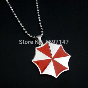 Resident Evil Umbrella Corporation Steel Chain Necklace & Charm Pendant + GIFT