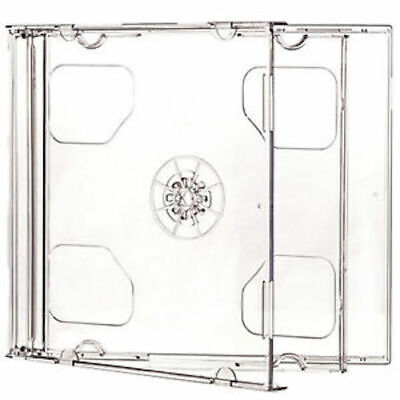 10 Standard 10.4mm Double Clear CD DVD Jewel Cases Clear Tray Hold 2 Discs Double Clear Cd Jewel Cases