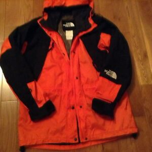 The North face jacket orange, black top