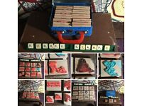 Wooden, Rubber, block stamps. Printing, art & craft